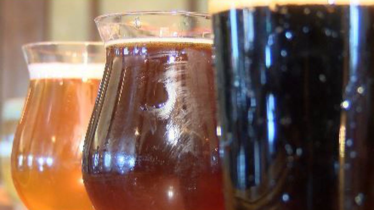 Abbey Ridge Brewery & Taproom serves a variety of beers
