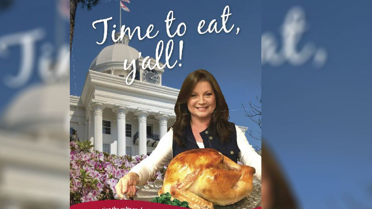 "A cookbook, titled ""Time to Eat, Y'all: Celebrating the Culinary Heritage of Sweet Home Alabama,"" commemorates Alabama's bicentennial and features family recipes and stories from officials across the state. (Source: Alabama Bicentennial Commission)"