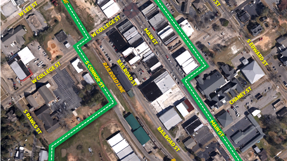 The potential entertainment district for downtown Enterprise barring a vote from the city...