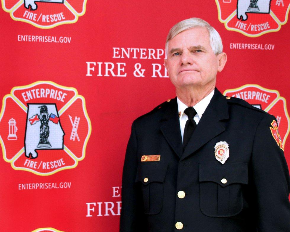 Enterprise Fire Department Chief Byron Herring