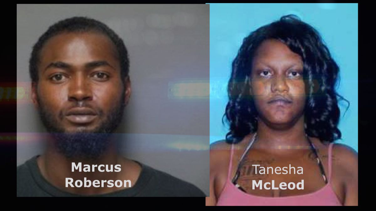 Marcus Roberson (L) is sought by police who believe he kidnapped Tanesha McLeod.