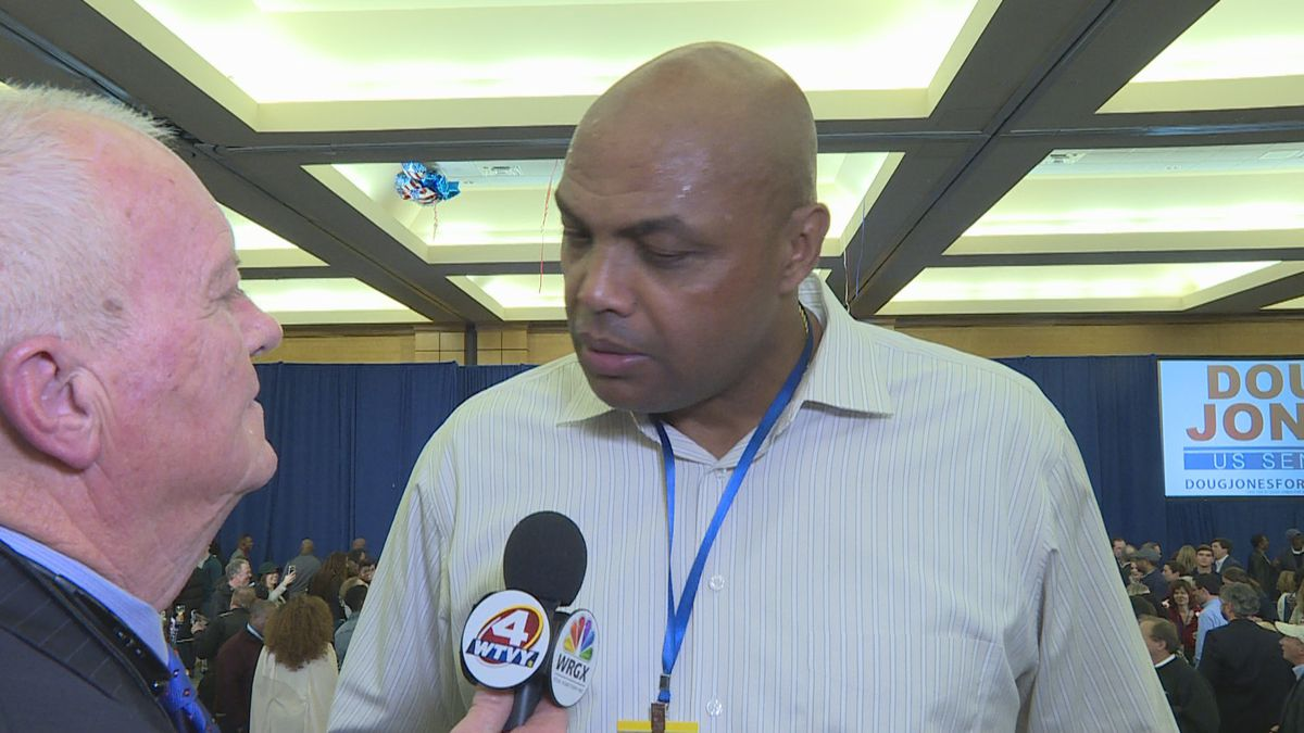 Former NBA superstar Charles Barkley is interviewed by WTVY's Ken Curtis in this December 12,...