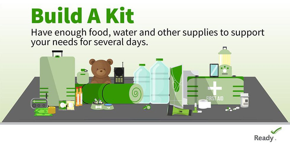 Have enough food, water and other supplies to support your needs for several days.