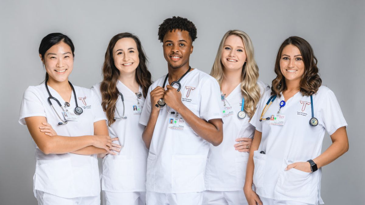 The new group of enrolled nursing students this semester is the 50th in TROY's history. (Source: TROY University)