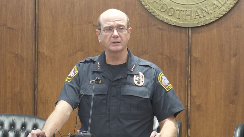 Dothan Police Chief Steven Parrish announces crime crackdown on September 11, 2020.