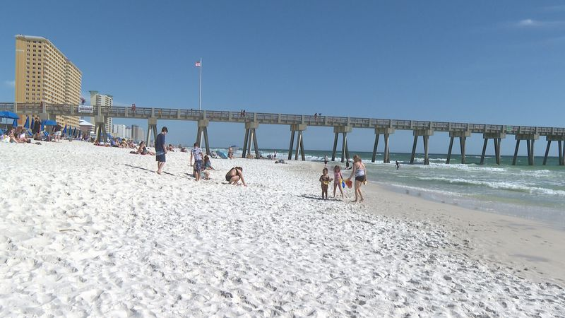 The white sandy beaches of the Emerald Coast are filled with families this month and fun during...