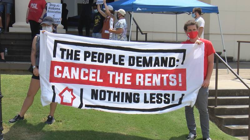 Cancel The Rents sponsored the Saturday protest.