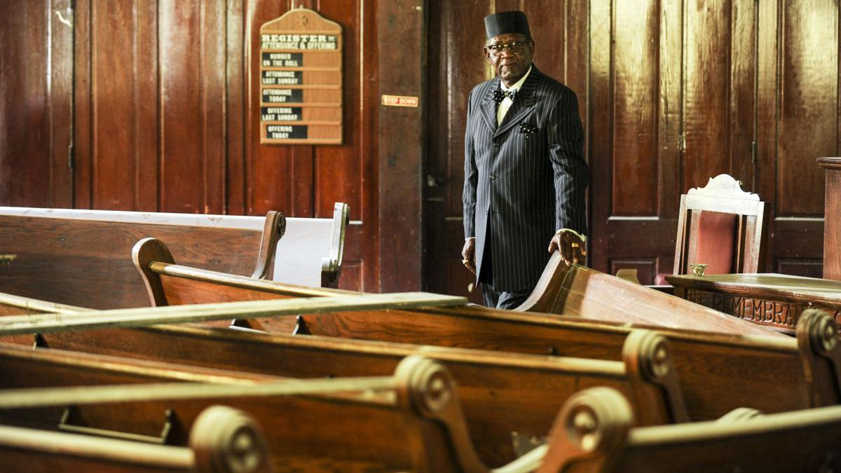 George Allen, pastor of The Temple of Zion, is restoring the 110-year-old church on Seventh...