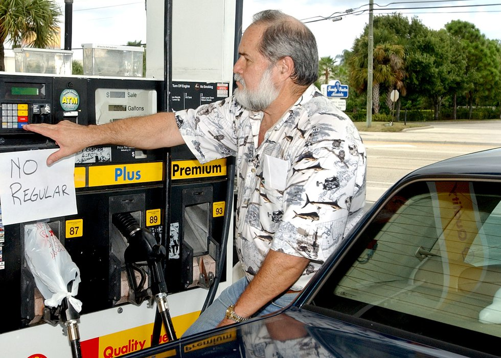 When a hurricane watch is issued make sure your car is fueled and ready to go. (AP Photo/Rick...
