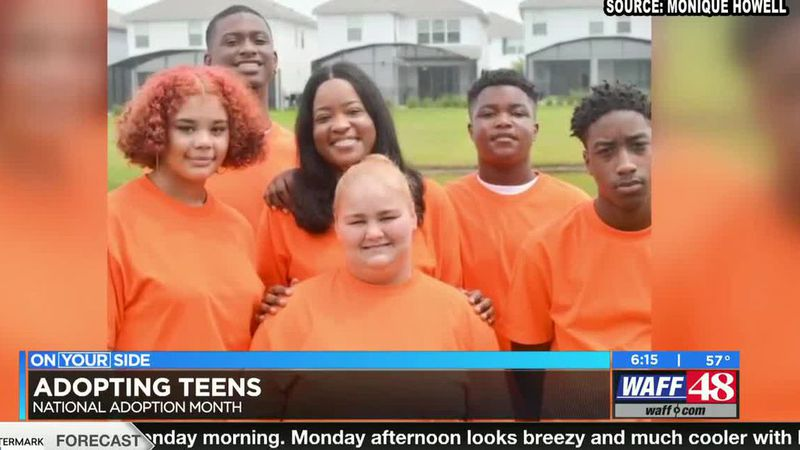 "Monique Howell, an adoptive mother of two teens says, ""They'll give me a hug and say, 'I love..."