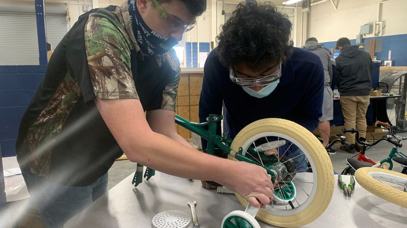Enterprise High School automotive students are helping their friends in the North Pole