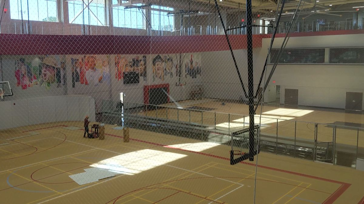 The 78,000 square-foot center features a multiactivity court, basketball court, free and circuit weight training areas, aerobic exercise rooms, an outdoor swimming pool, and a multi-level walking track, according to the university. (WTVY Photo from Video)