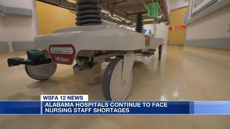 Alabama hospitals continue to face nursing staff shortages