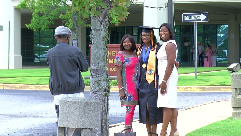 LeAnna Roberts graduates from high school and community college on the same day