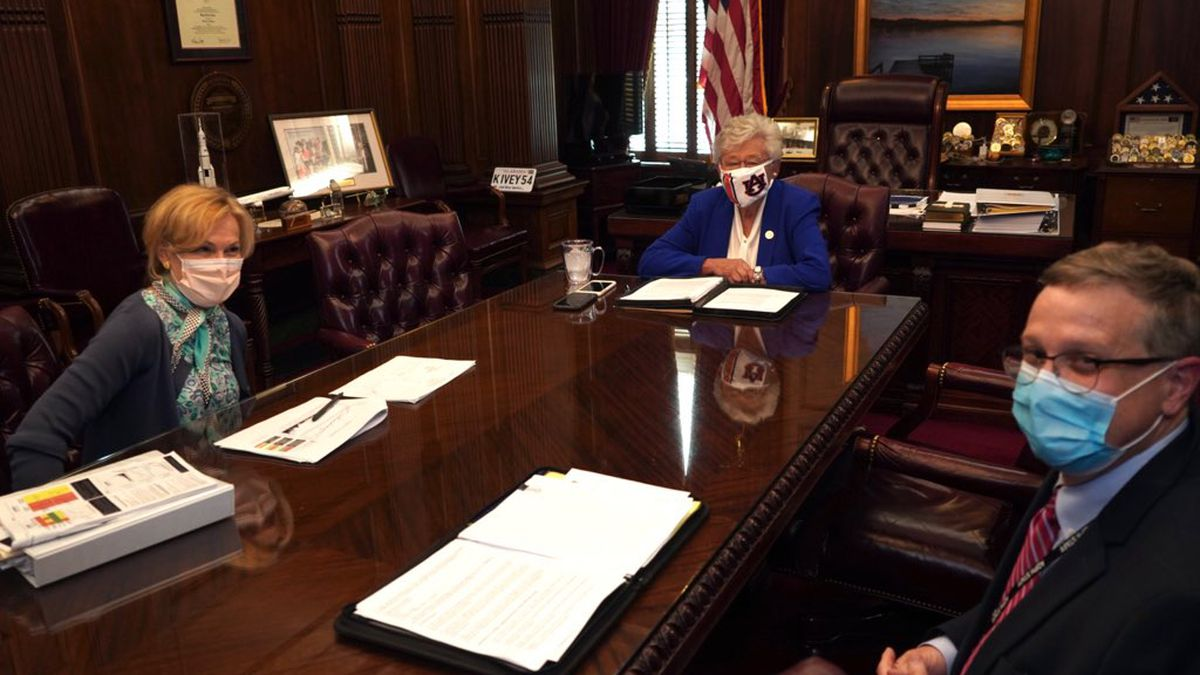 Alabama Gov. Kay Ivey and State Health Officer Dr. Scott Harris on Wednesday, July 15, 2020, met with Dr. Deborah Birx, a key member of the Trump Administration's Coronavirus Task Force.