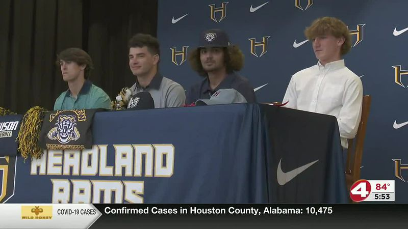 On the dotted line: Four Rams sign college scholarships