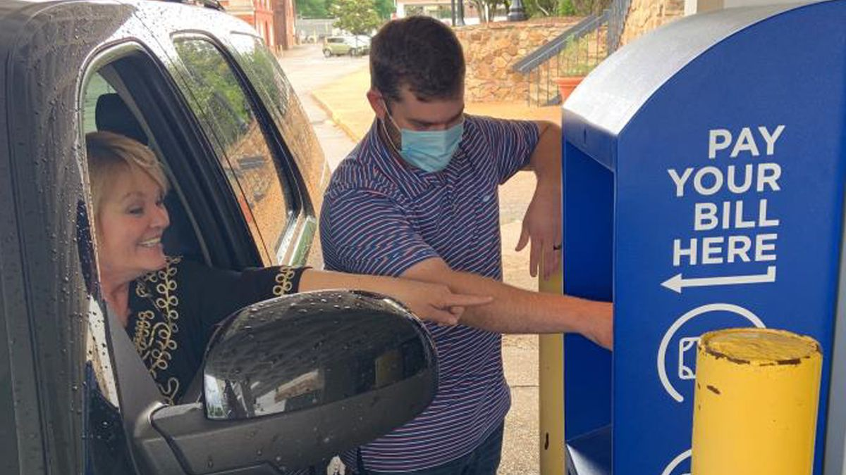 The kiosk is located at the Dothan Civic Center under the portico and is available 24 hours a day, seven days a week. (Source: City of Dothan)