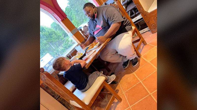A Mississippi man and child created a viral moment when they had a conversation at a restaurant.
