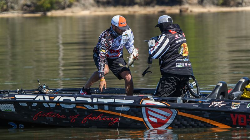 Pro Zack Birge weighed in eight bass totaling 25 pounds, 14 ounces Wednesday to win the...