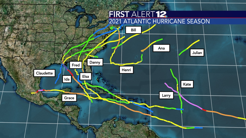 There have been 12 named storms as of September 7th.