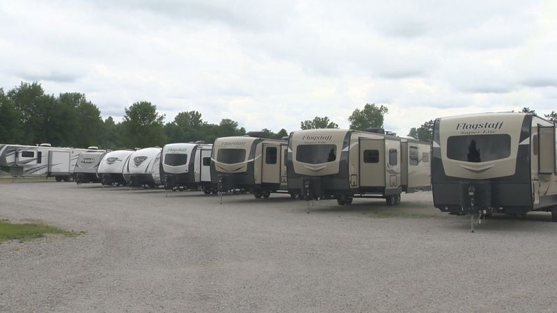 More people resorting to RVs as a safer form of travel.