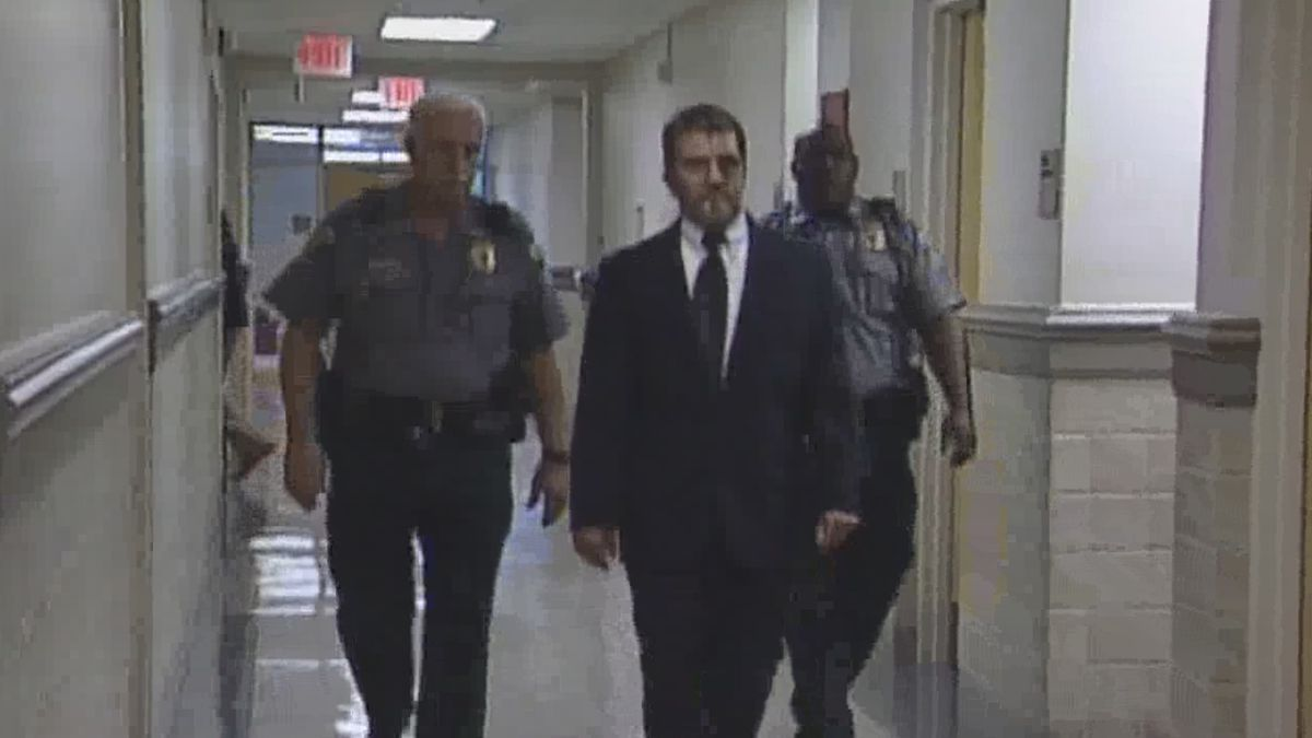 Convicted murderer Billy Ray Marchman is escorted from a Houston County courtroom in this 2005 WTVY file photo.