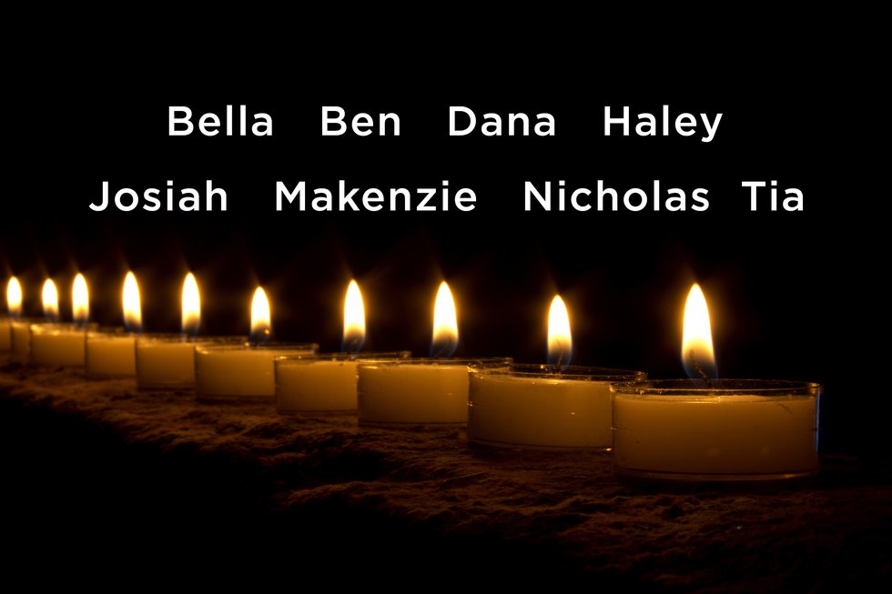 For the first time, the names of eight children killed in a June 19 crash on I-65 in Butler...