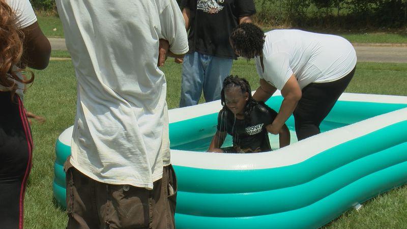 The Gibbs Village Baptism was held June 12 on Crossway Drive.