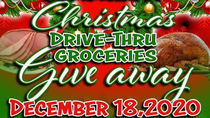 The drive thru will be on December 18th from 10 a.m. to 1 p.m. or when supplies run out.