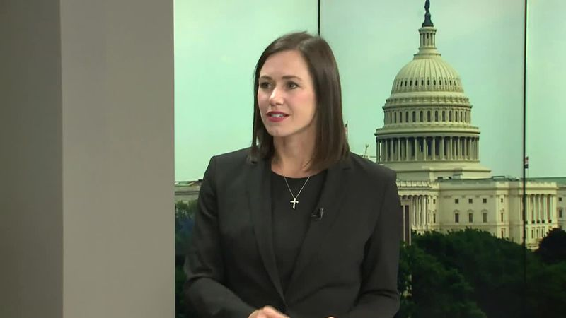 Katie Britt discusses her Senate campaign during a News 4 interview that aired on July 8, 2021.