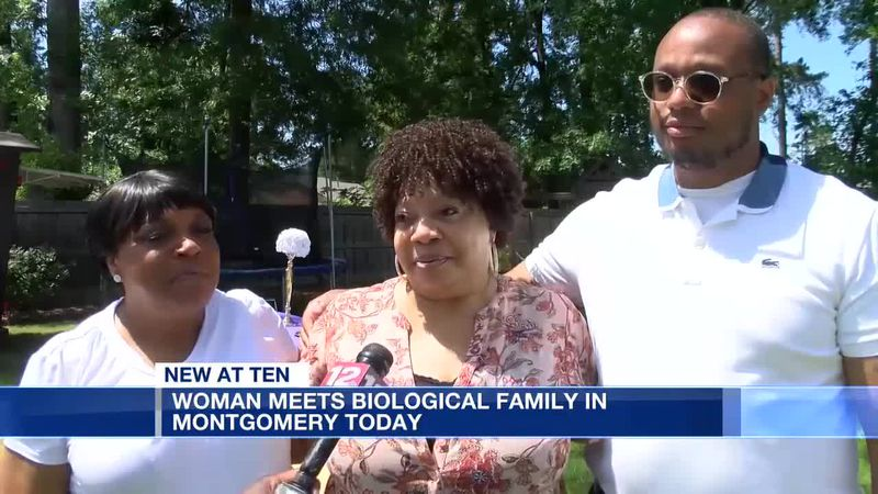 Woman meets biological family in Montgomery