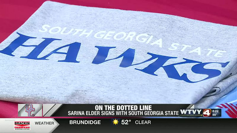 On the dotted line: Sarina Elders sings with South Georgia State