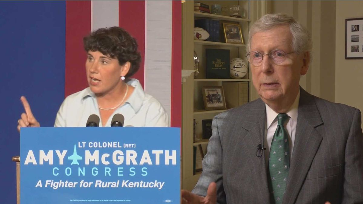 Amy McGrath hopes to unseat Senate Majority Leader Mitch McConnell.