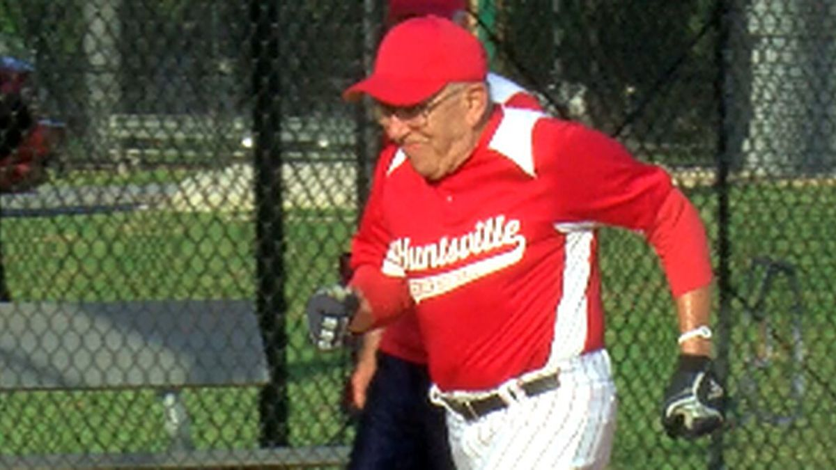 """""""I've been playing since I was knee-high to a grasshopper,"""" 86-year-old senior adult shortstop Chuck Jahnke said."""
