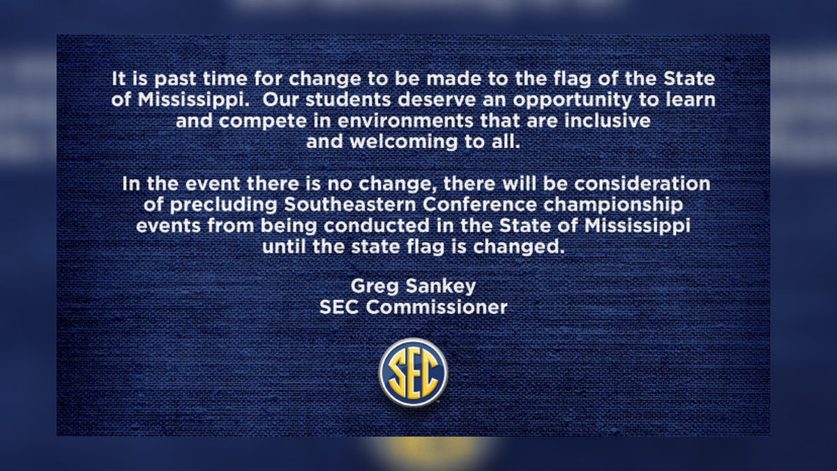 SEC Commissioner: 'It is past time for change to be made to the flag of... Missisisppi' (Source: Twitter/SEC)