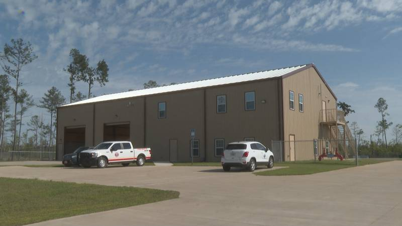 The new station is at 2411 Commercial Park Drive in Marianna and it'll house one fire engine...