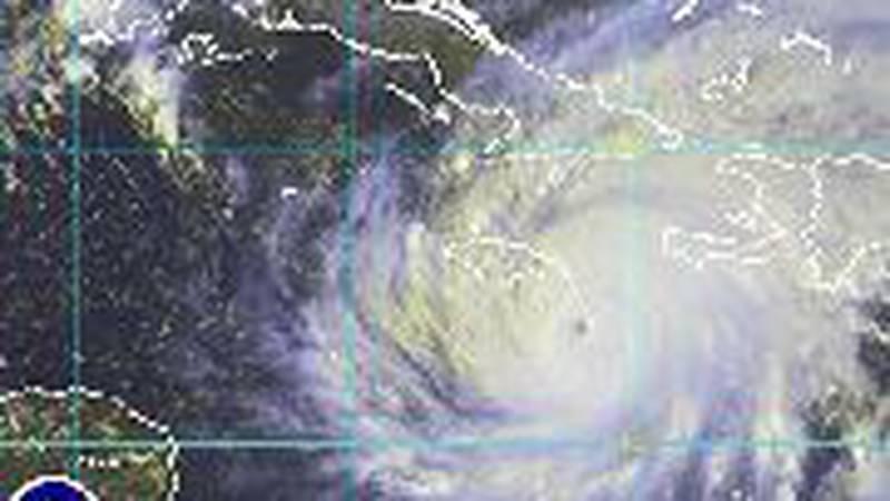 Hurricane Ivan over the Caribbean