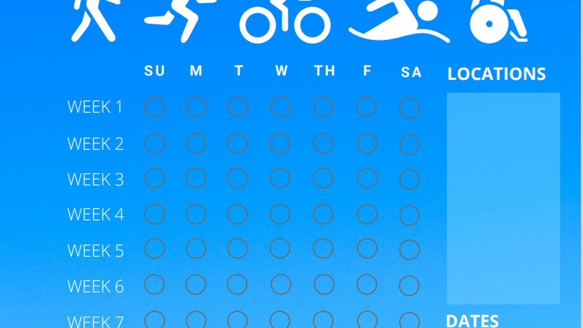 90-day fitness challenge