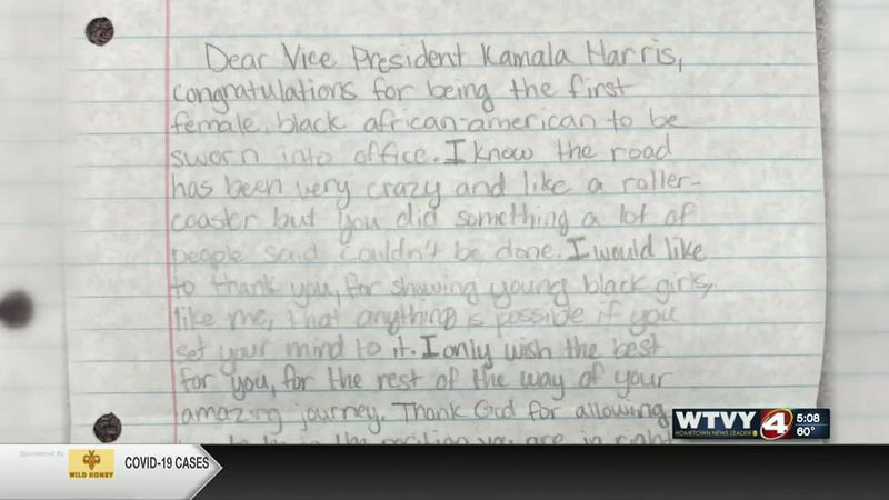 Makayla plans to send her letter to the White House.