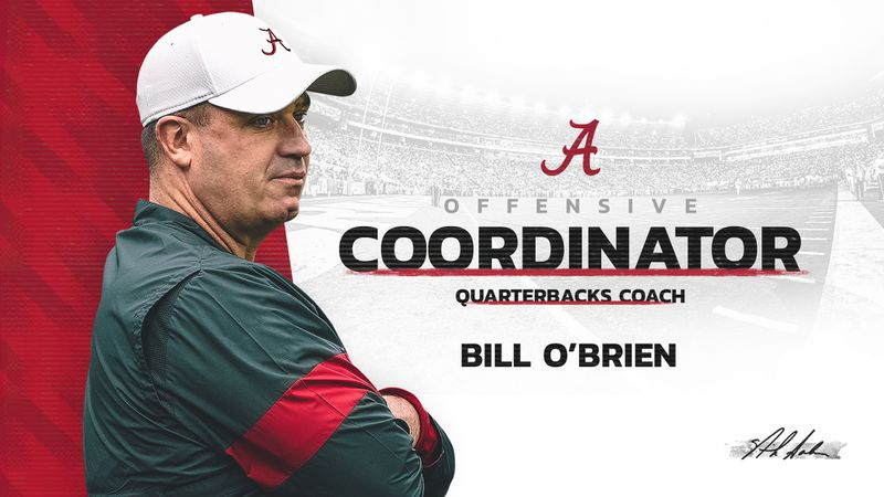 Alabama head football coach Nick Saban announced Bill O'Brien as the new member of the Crimson...
