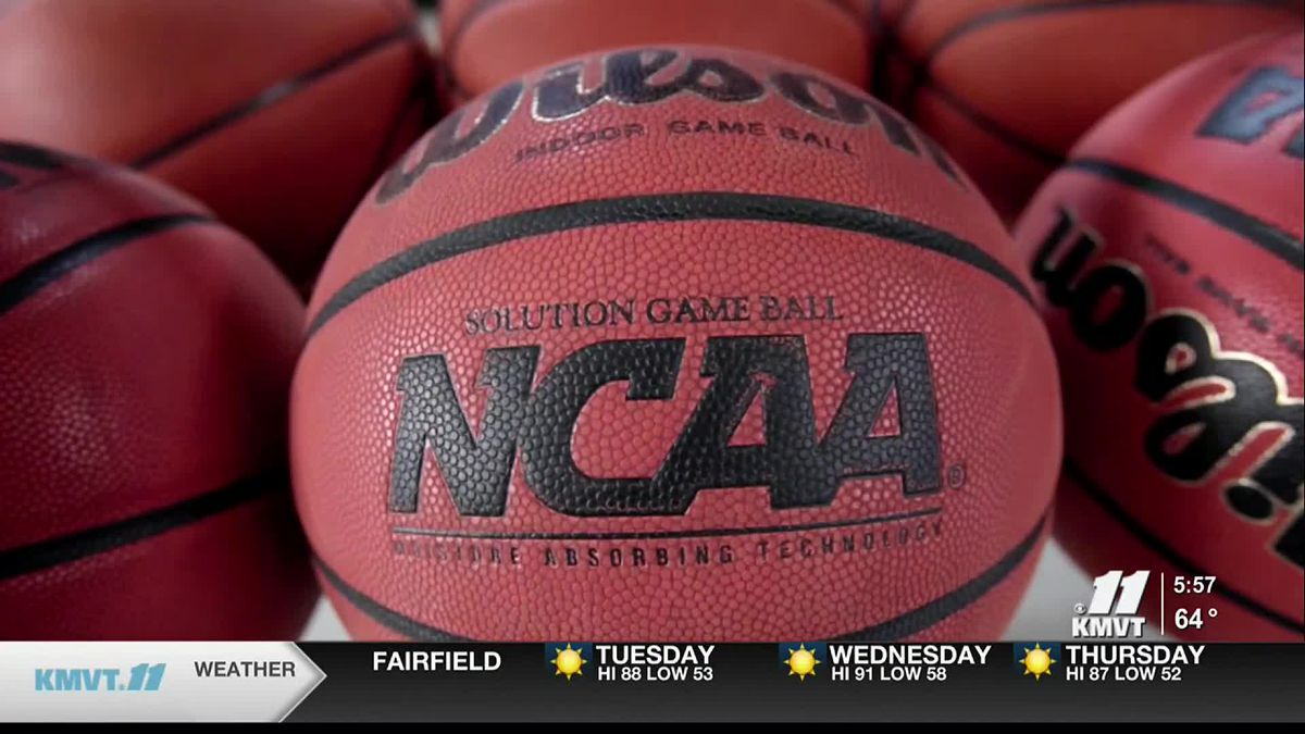 This is an image of an NCAA basketball.
