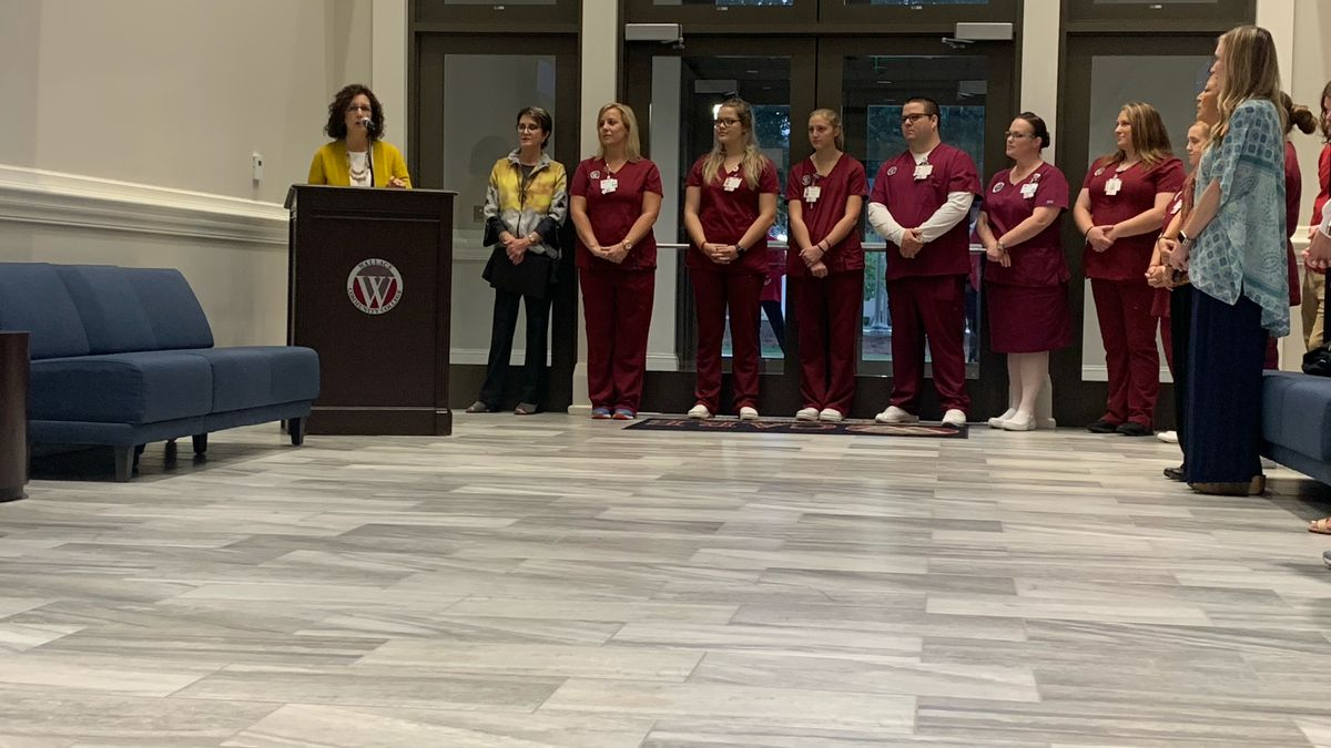 Wallace Community College nursing students celebrate 50 years of the ADN program.