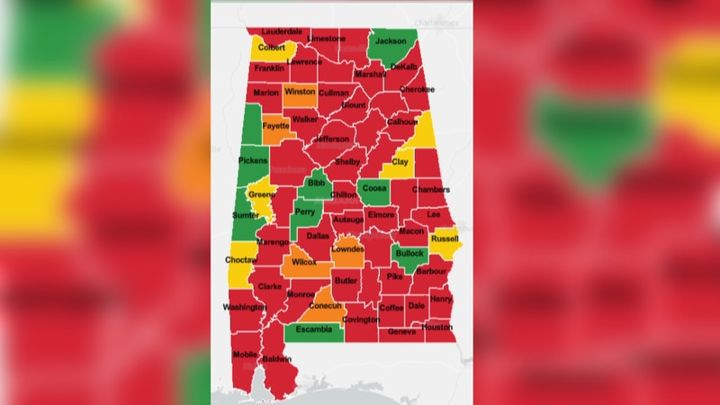 The Alabama Department of Public Health updated the COVID-19 risk indicator dashboard. Much of...