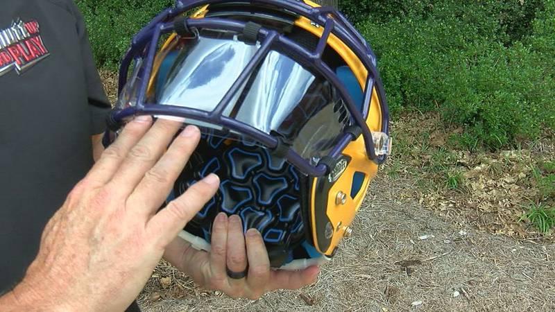 Helmet splash shield to protect football players (Source: WBRC)