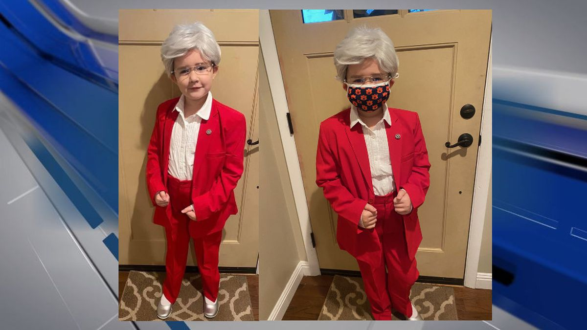 9-year-old Cate McGriff of Rainbow City has transformed herself into Gov. Kay/Cate Ivey for...