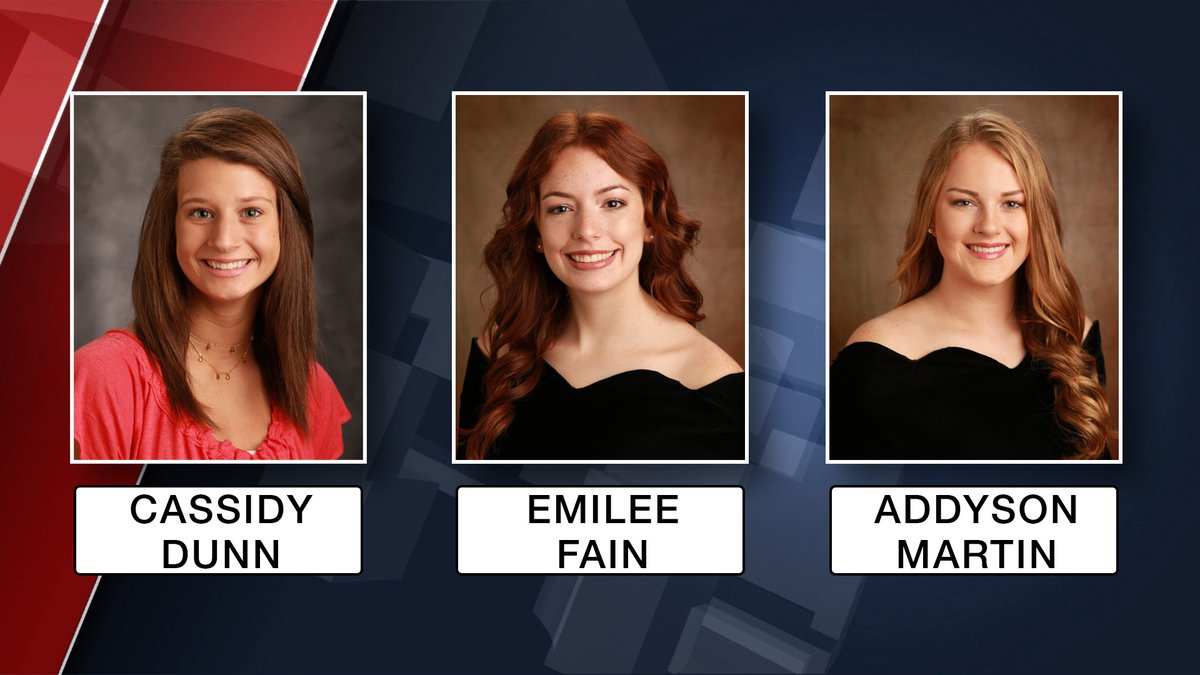 Cassidy Dunn, Emilee Fain and Addyson Martin, students at Geneva High School were killed in a...