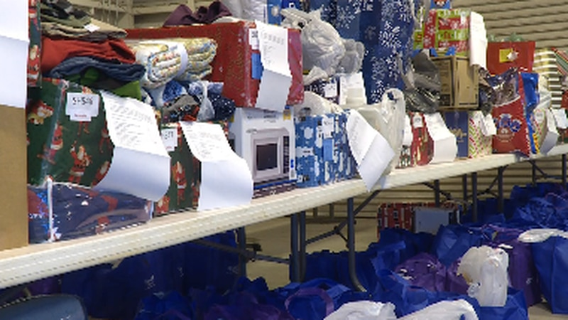 Items for SARCOA's annual Santa for Seniors event
