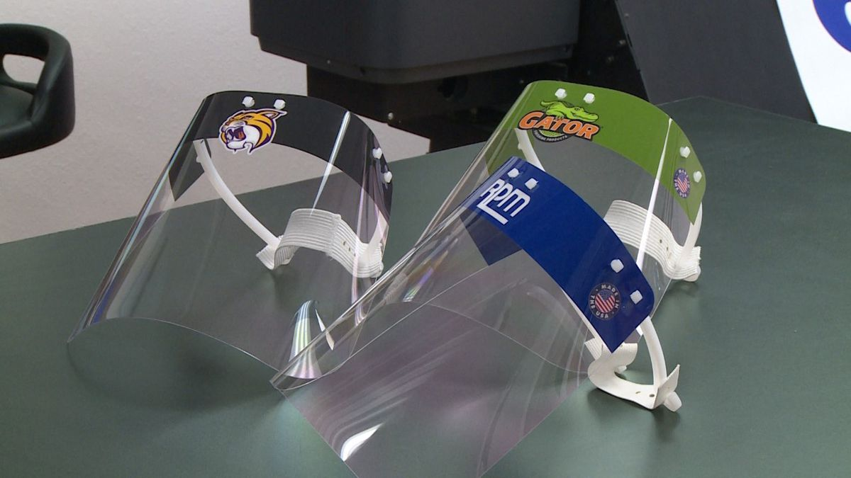 Print Wisconsin is making face shields for schools
