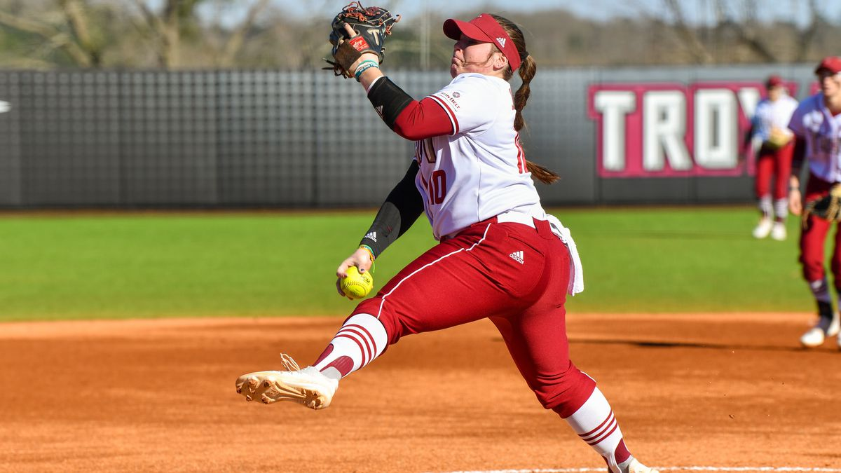 Troy pitcher Leanna Johnson tabbed No. 6 in D-I Softball Pitcher Analytics Poll