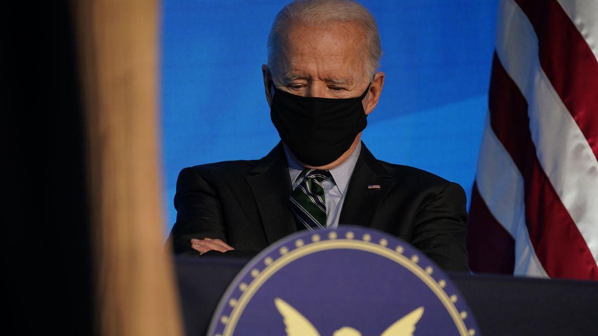 President-elect Joe Biden listens during an event at The Queen theater, Saturday, Jan. 16,...